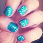 Tutorial: Uñas Turquesa con Glitter