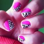 Tutorial: Uñas Pink+Zebra
