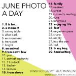 Desafío de Fotos de Junio. Semana #2