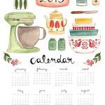 Imprimibles: Calendarios 2015