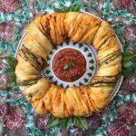 Calendario de Adviento #14. Corona de Tomate y Pesto [Vegan]