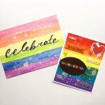 DIY: Tarjeta y Postal de Arcoíris